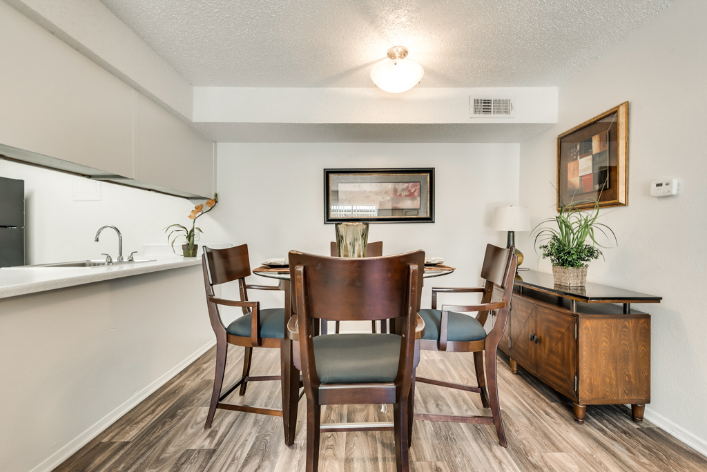 Dining Room at The Watermark Apartments in Mesquite, TX