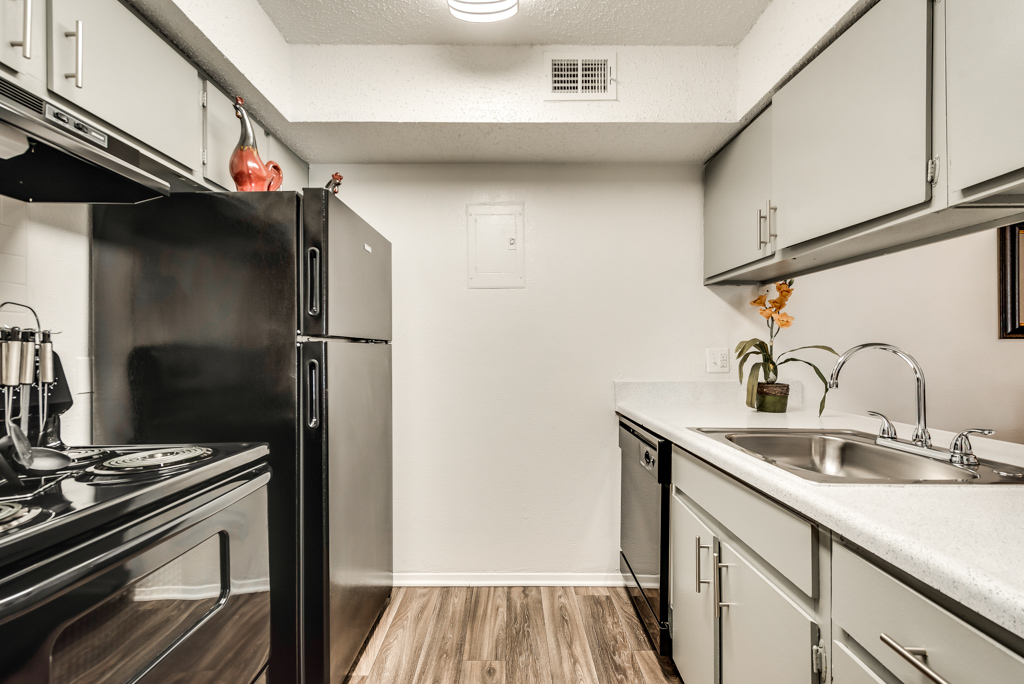 Kitchen Space at The Watermark Apartments in Mesquite, TX