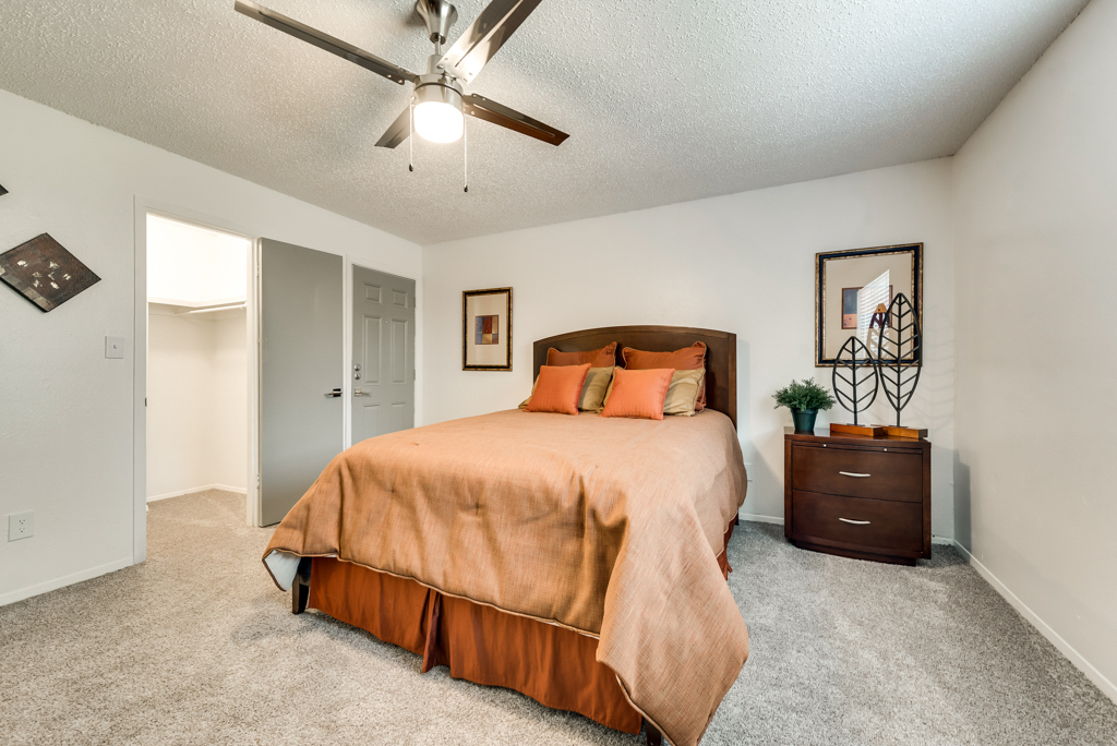 Spacious Bedrooms at The Watermark Apartments in Mesquite, TX