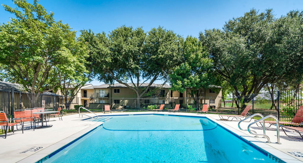 Resort-Style Pool at The Watermark Apartments in Mesquite, TX