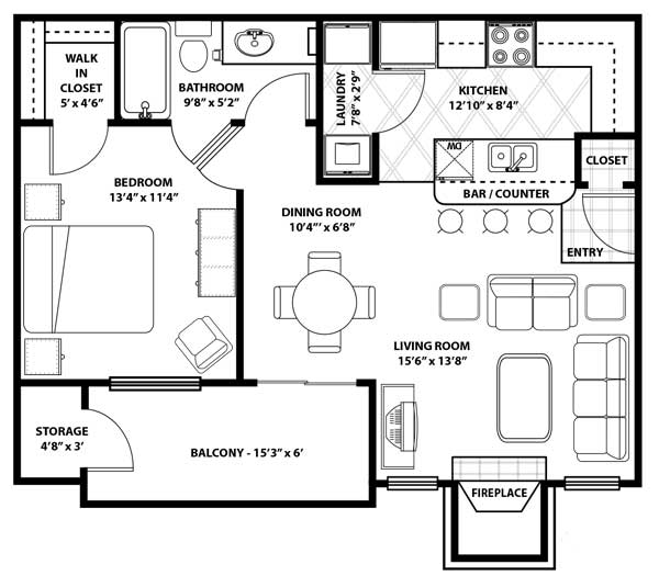 Westmount at Three Fountains - FloorPlan - A-2