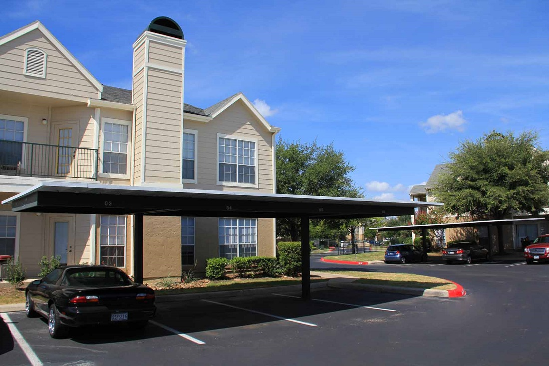 Covered Parking at Westmount at Three Fountains Apartments in San Antonio, Texas