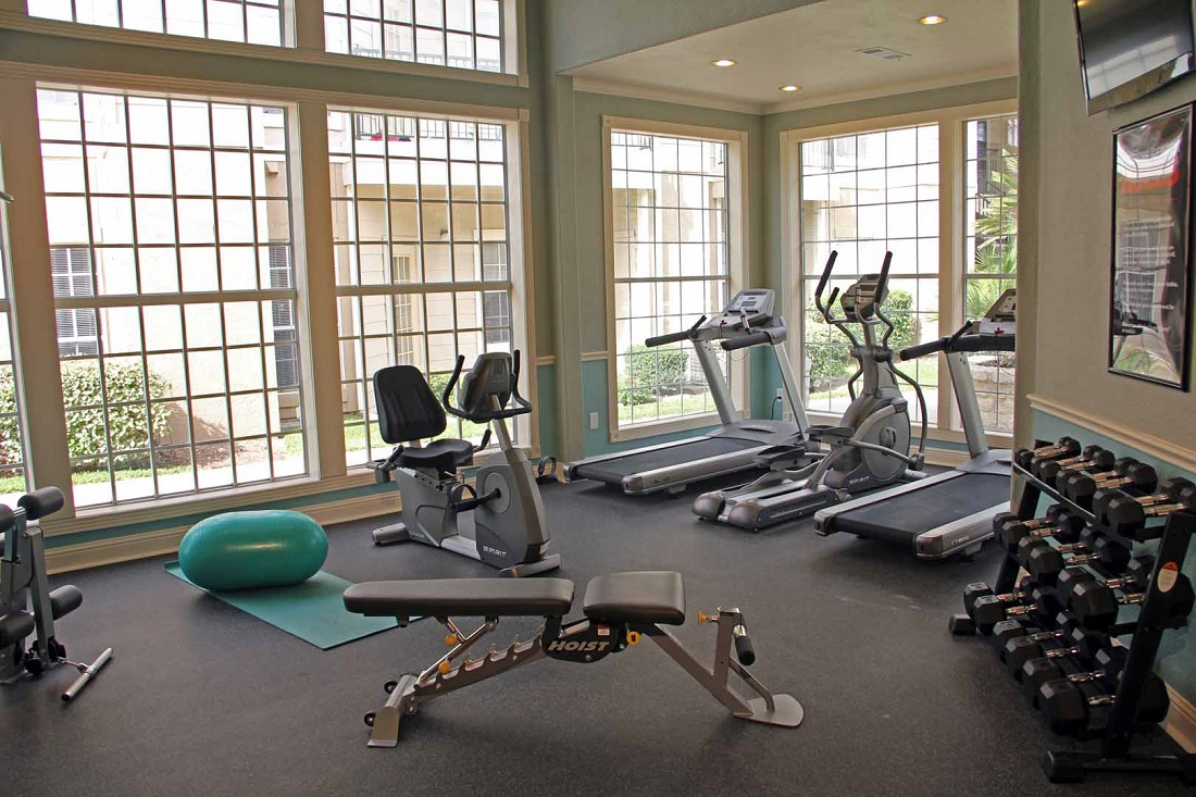 State-of-the-Art Fitness Center at Westmount at Three Fountains Apartments in San Antonio, Texas