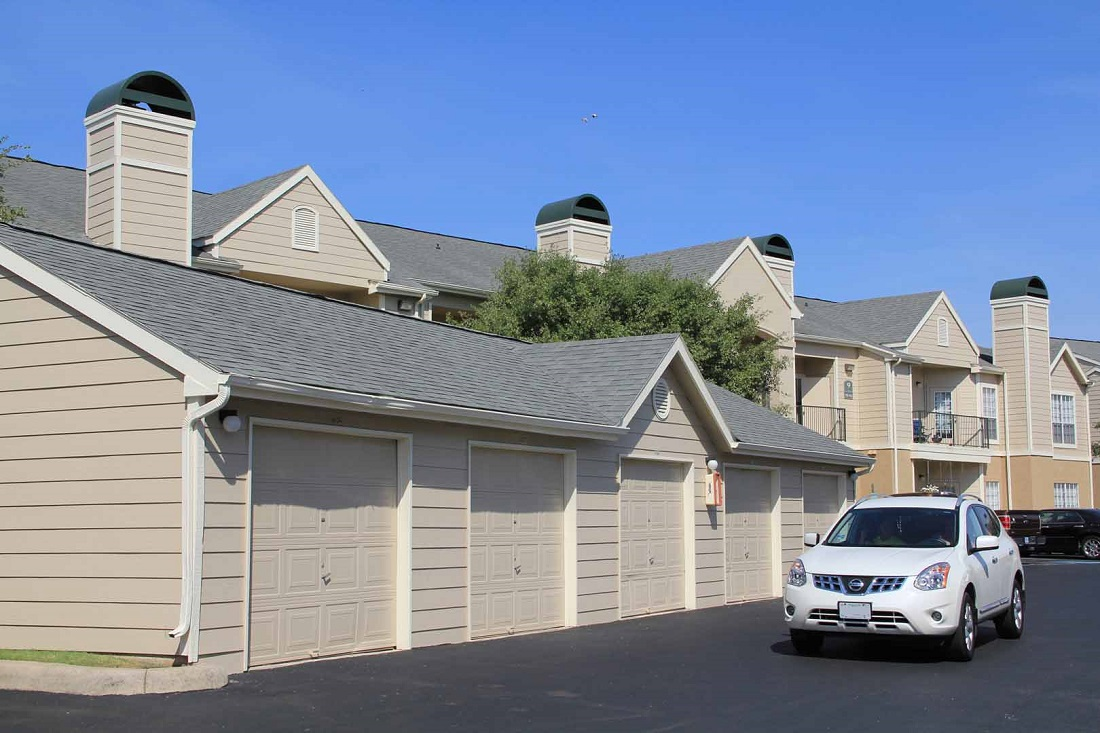 Detached Garages at Westmount at Three Fountains Apartments in San Antonio, Texas
