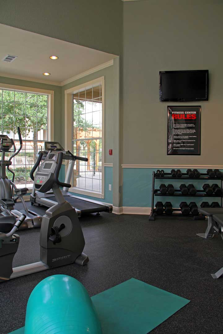 Free Weights at Westmount at Three Fountains Apartments in San Antonio, Texas