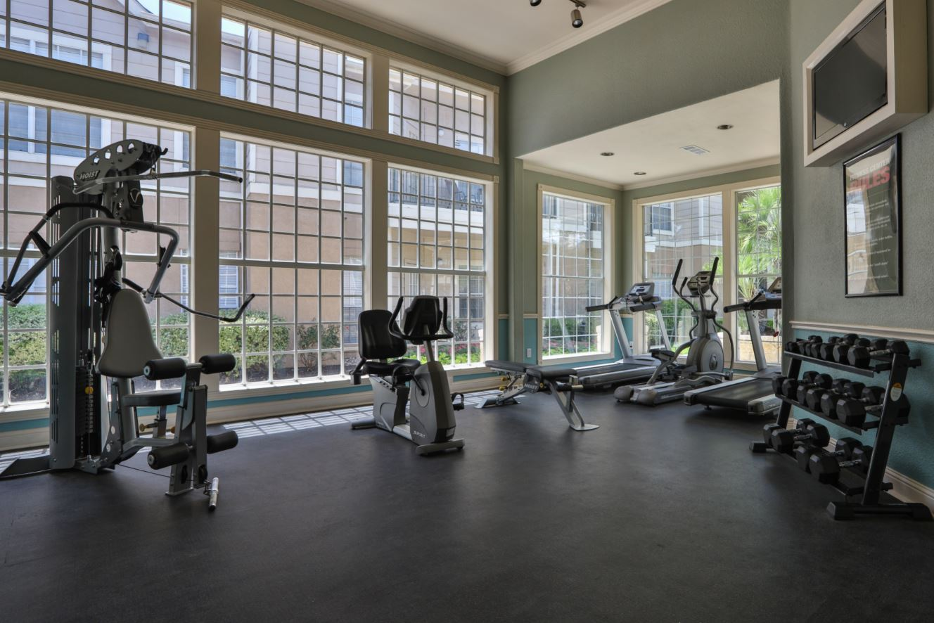 Fitness Center at Westmount at Three Fountains Apartments in San Antonio, Texas