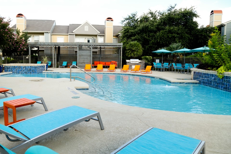 Swimming Pool at Westmount at Three Fountains Apartments in San Antonio, Texas