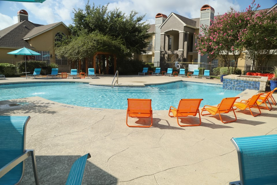 Sun Deck at Westmount at Three Fountains Apartments in San Antonio, Texas