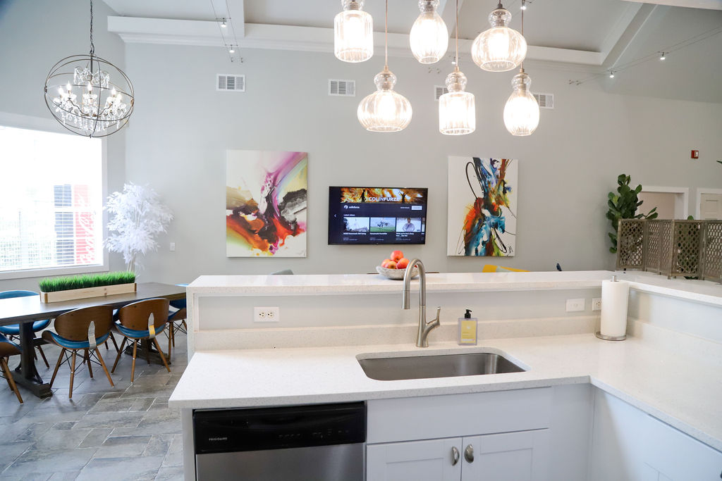 Community Kitchen at Westmount at Three Fountains Apartments in San Antonio, Texas
