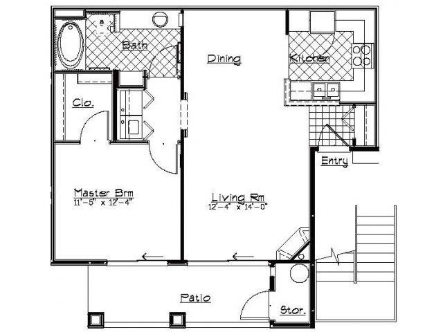 Floorplan - One Bedroom image