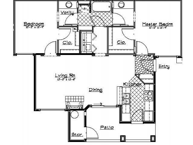 Timberline Place - Floorplan - Two Bedroom