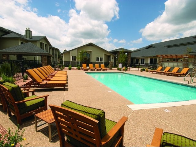 Poolside Lounge at Timberline Place Apartments in Flagstaff, Arizona