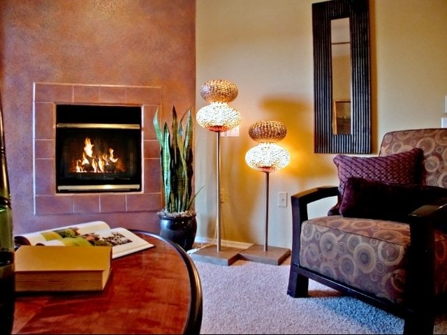 Cozy Fireplace at Timberline Place Apartments in Flagstaff, Arizona