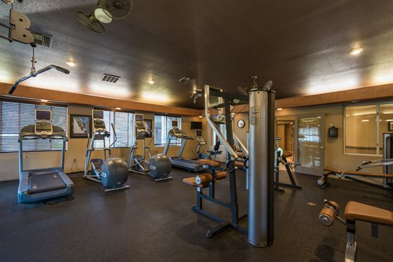 24-Hour Resident Gym at Timberline Place Apartments in Flagstaff, Arizona