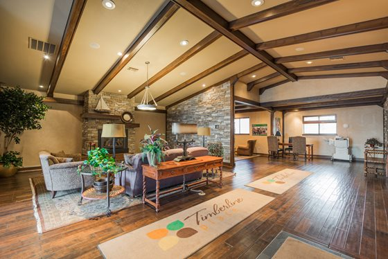 Cozy Resident Clubhouse at Timberline Place Apartments in Flagstaff, Arizona