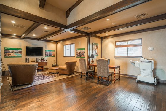 Comfortable Clubhouse at Timberline Place Apartments in Flagstaff, Arizona
