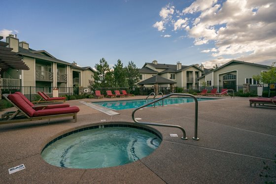 Poolside Jacuzzi at Timberline Place Apartments in Flagstaff, Arizona