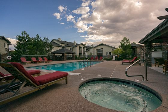 Hot Tub at Timberline Place Apartments in Flagstaff, Arizona