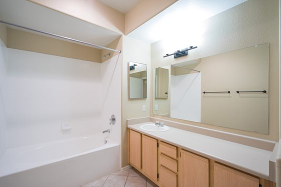 Upgraded Bathroom at Timberline Place Apartments in Flagstaff, Arizona