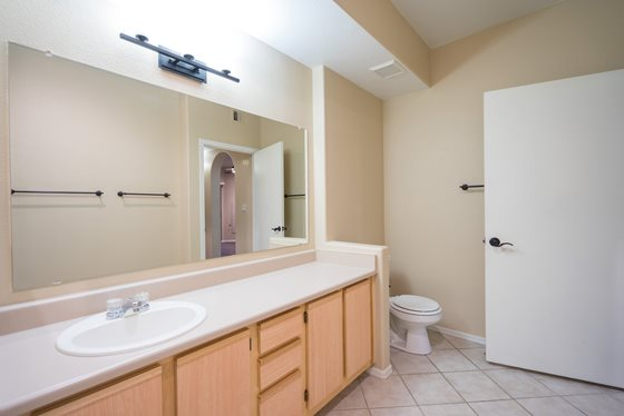Well-Lit Bathroom at Timberline Place Apartments in Flagstaff, Arizona