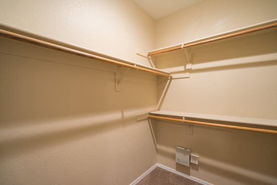 Walk-In Closets at Timberline Place Apartments in Flagstaff, Arizona