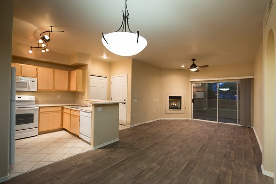 Hardwood Flooring at Timberline Place Apartments in Flagstaff, Arizona