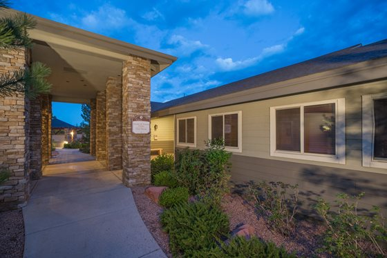 Lush, Desert Landscaping at Timberline Place Apartments in Flagstaff, Arizona
