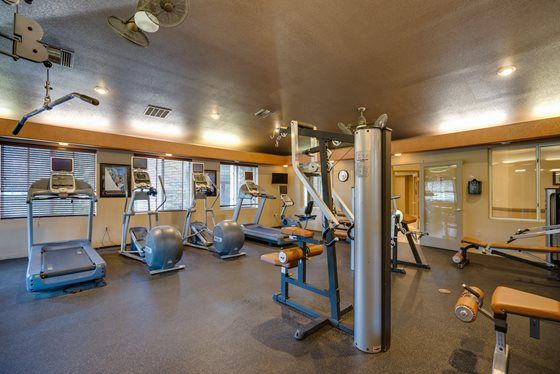 24-Hour Fitness Center at Timberline Place Apartments in Flagstaff, Arizona