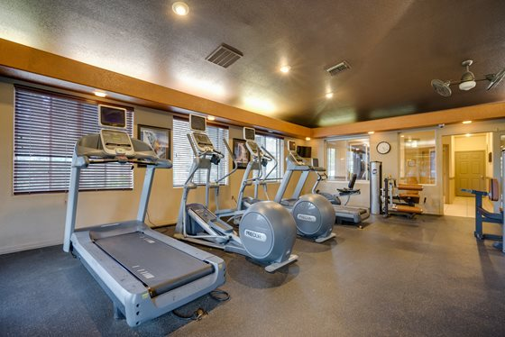 Fully-Equipped Fitness Center at Timberline Place Apartments in Flagstaff, Arizona