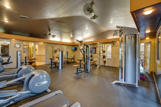 Expansive Fitness Center at Timberline Place Apartments in Flagstaff, Arizona
