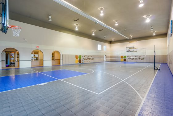 Indoor Basketball Court at Timberline Place Apartments in Flagstaff, Arizona