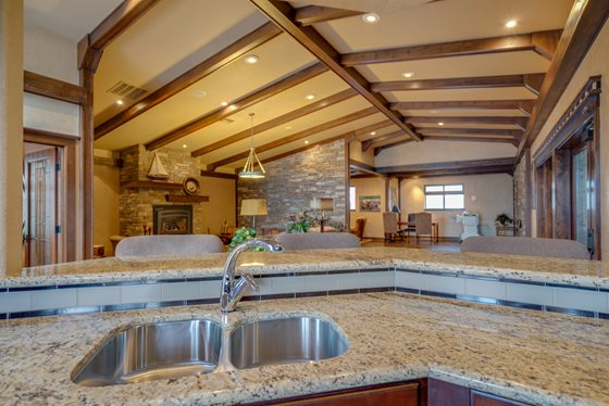 Classic Clubhouse Interior at Timberline Place Apartments in Flagstaff, Arizona