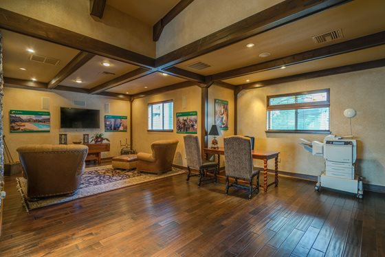 Expansive Clubhouse at Timberline Place Apartments in Flagstaff, Arizona