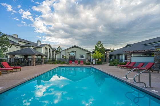 Resort-Style Swimming Pool at Timberline Place Apartments in Flagstaff, Arizona