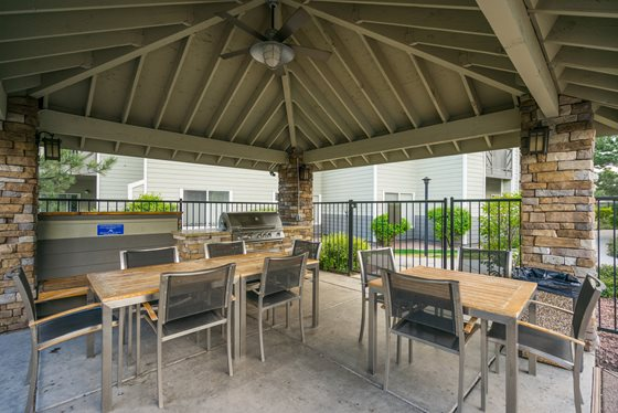 Convenient Grilling Stations at Timberline Place Apartments in Flagstaff, Arizona