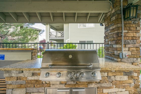 State-of-the-Art Grilling Stations at Timberline Place Apartments in Flagstaff, Arizona
