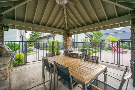 Outdoor Gathering Spaces at Timberline Place Apartments in Flagstaff, Arizona
