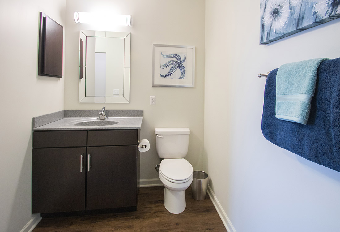 Upgraded Bathroom at Titan Springs Apartments in Papillion, Nebraska