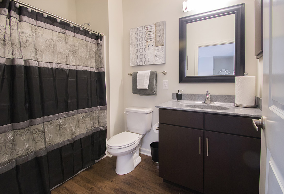 Spacious Bathroom at Titan Springs Apartments in Papillion, Nebraska