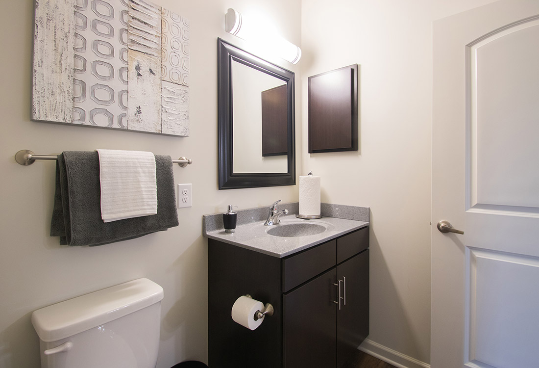 Bathroom Vanity Lighting at Titan Springs Apartments in Papillion, Nebraska