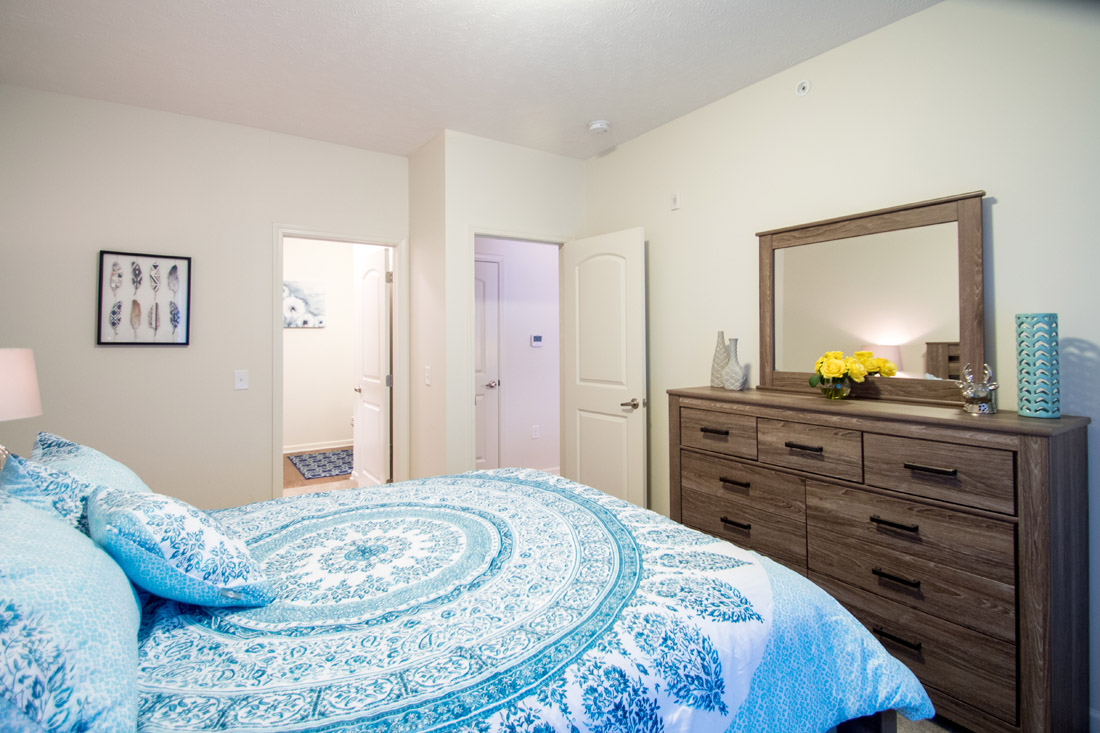 Bedroom at Titan Springs Apartments in Papillion, Nebraska