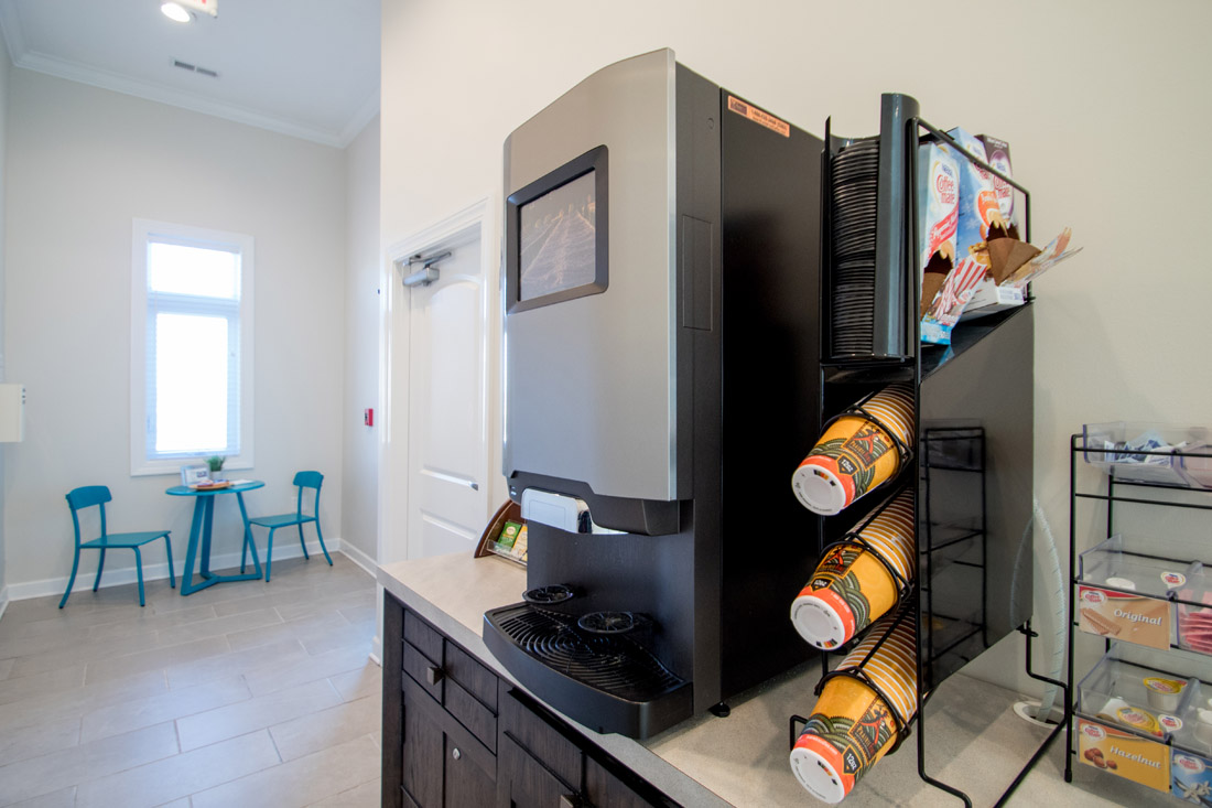 Complimentary Coffee Bar at Titan Springs Apartments in Papillion, Nebraska