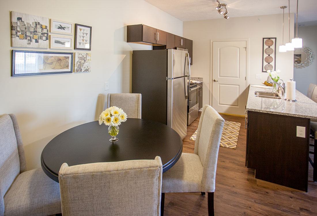 Separate Dining Area at Titan Springs Apartments in Papillion, Nebraska