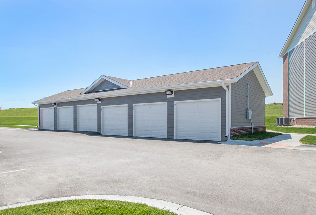 Garage at Titan Springs Apartments in Papillion, Nebraska