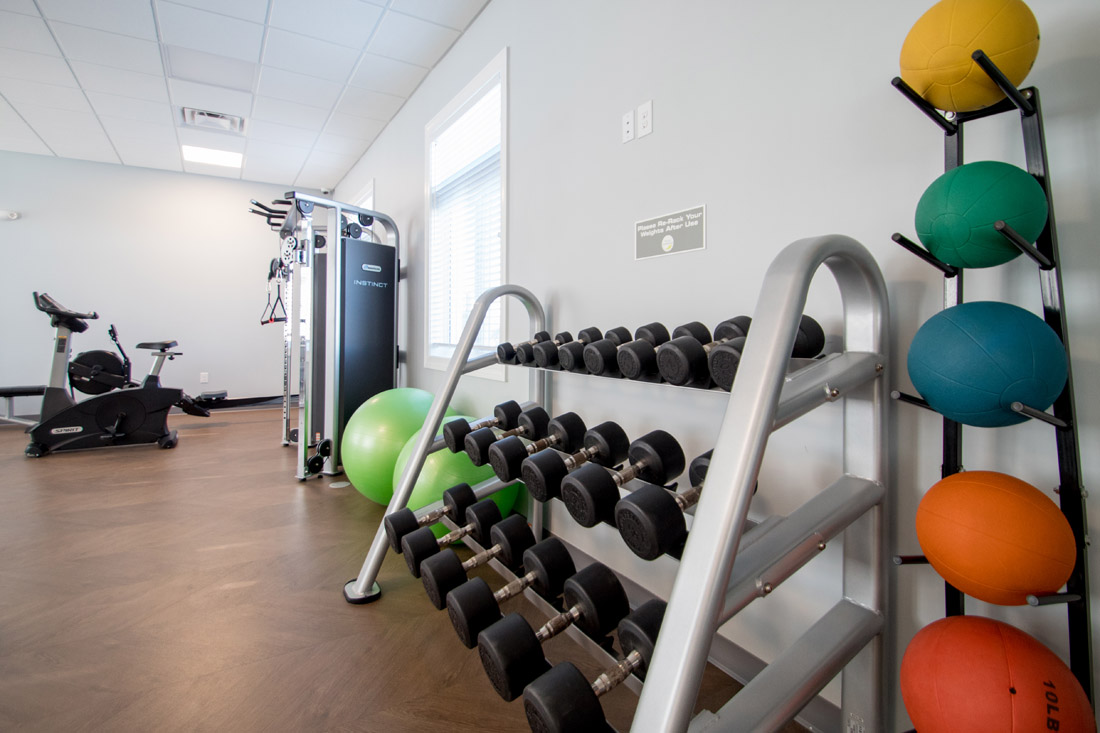 Fitness Center at Titan Springs Apartments in Papillion, Nebraska