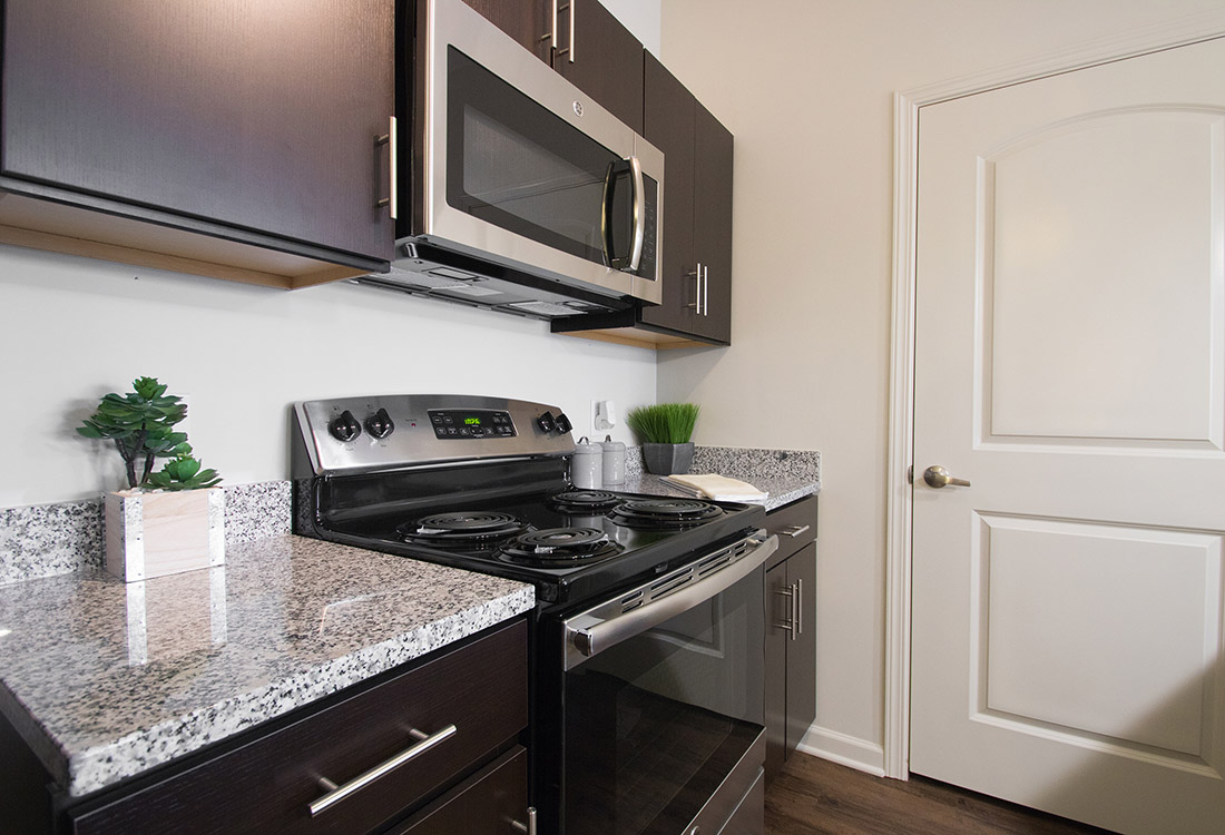 Stainless Steel Appliances at Titan Springs Apartments in Papillion, Nebraska