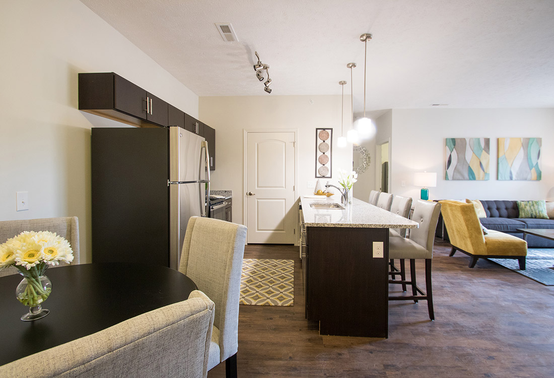 Open Living Space at Titan Springs Apartments in Papillion, Nebraska