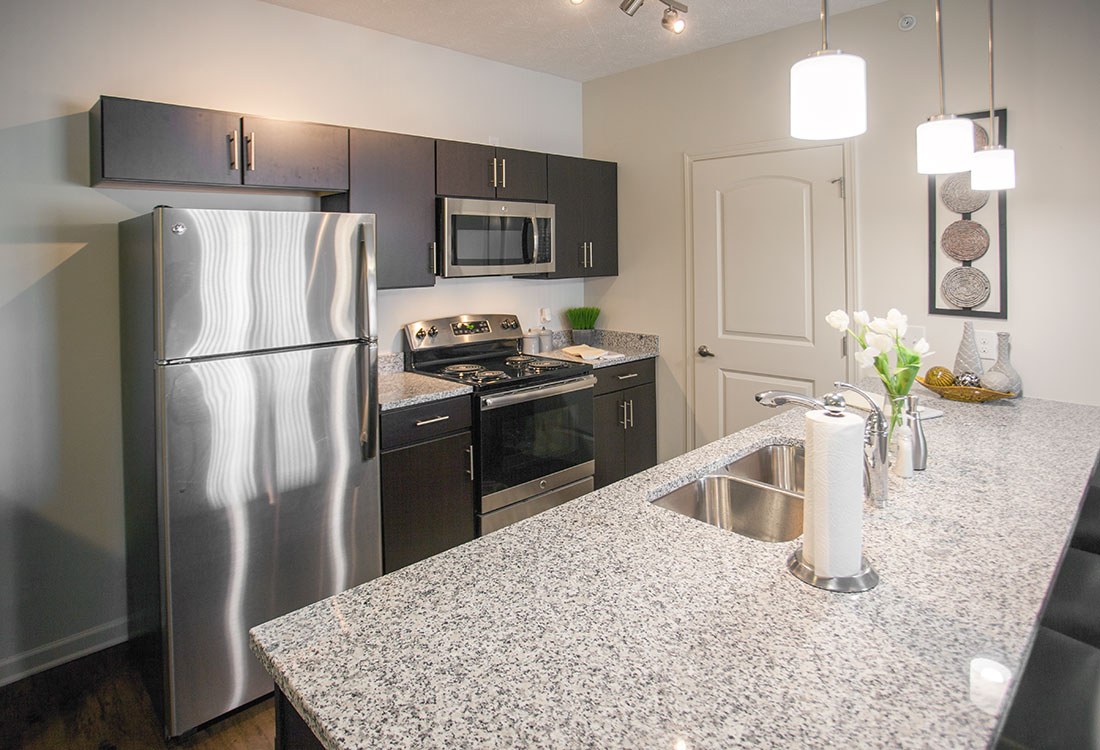 Granite Countertops at Titan Springs Apartments in Papillion, Nebraska