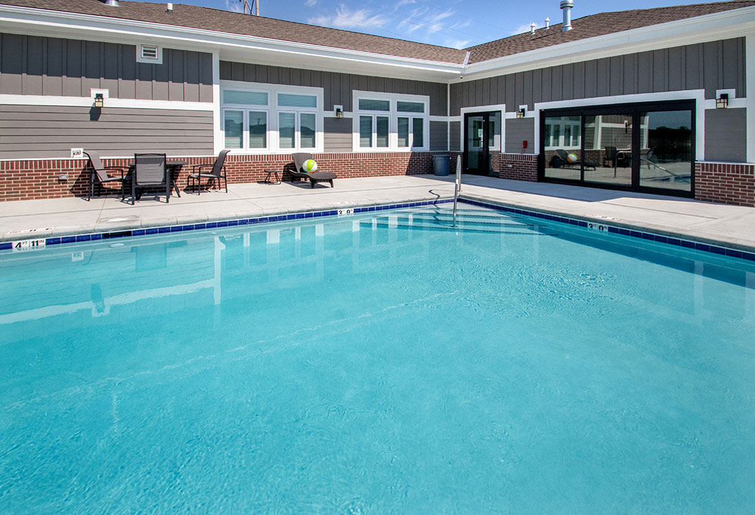 Swimming Pool at Titan Springs Apartments in Papillion, Nebraska
