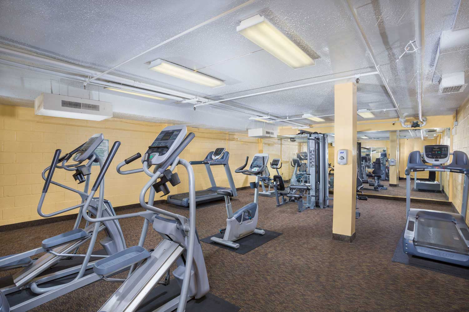Fitness center at Top of the Hill Apartments in Temple Hills, MD